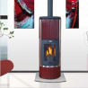 Poêle à bois LE SOLMONT-3 377135 Finition corps de chauffe fonte, acier, céramique et inox de GODIN