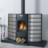 Poêle à bois LE KILI 630127 Finition céramique foyer fonte de GODIN