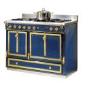 Cuisinière à bois et charbon de Godin Châtelaine 6755 décor, émaillé bleu france