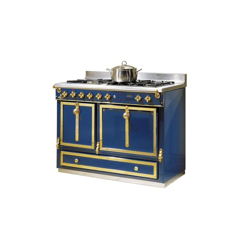 Cuisini re bois et charbon de godin ch telaine 6755 d cor maill bleu fra - Fourneau lacanche prix ...