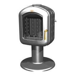 Cuisinière à bois godin L'Arpège Blanc - 230154