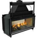 Poêle Godin à bois CANTOU D'ANGLE Rustique peint anthracite