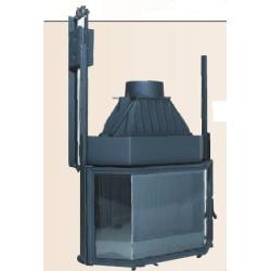 Poêle-cheminée Godin CANTOU D'ANGLE LISERON