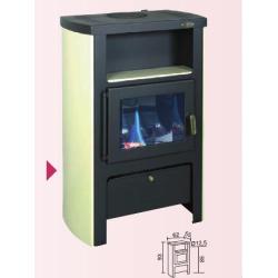 Poêle-cheminée à bois LE BERGAMOTTE