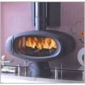 Poêle GODIN à bois et charbon tout fonte Le Régence 3755 peint anthracite