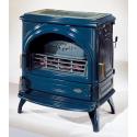 Poêle GODIN à bois Orlando 371105 Peint anthracite et décor gris alu