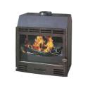 Poêle GODIN à bois L'Asulis 371119 Peint anthracite appareil plus meuble étagère