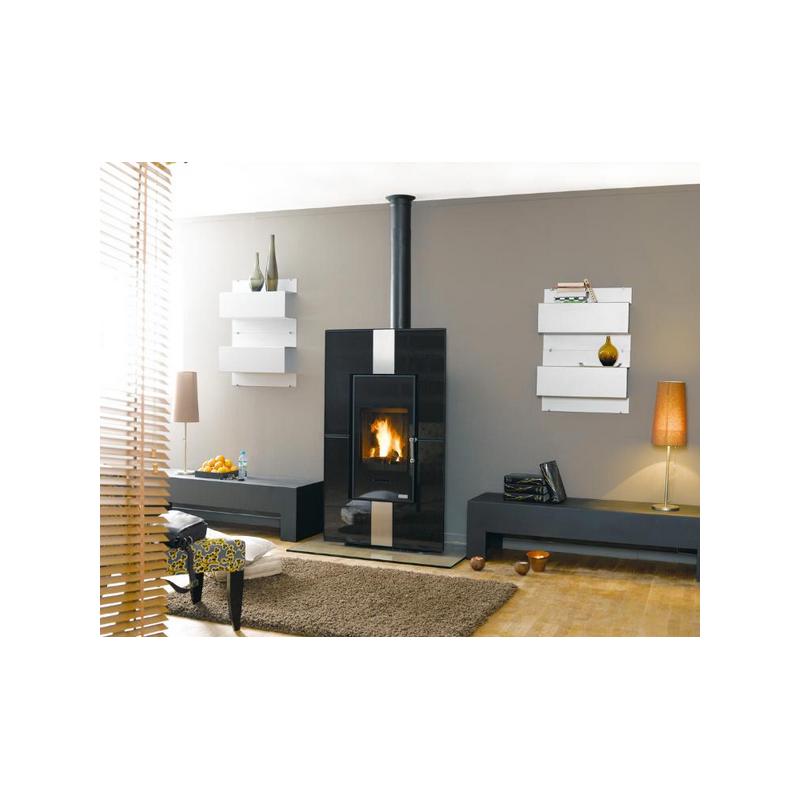 Poêle GODIN à gaz REGENCE 3444 peint anthracite tout fonte