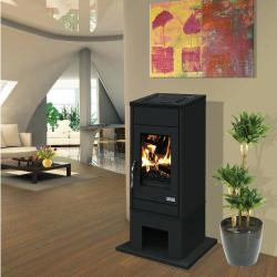 Poêle à bois ROMARIN 630109 Finition fonte céramique de GODIN