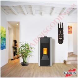Foyer insert à bois INSERT 660138 - Habillage en fonte et acier de GODIN