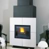 Poêle cheminée à bois CANTOU-2 680102 Finition acier de GODIN