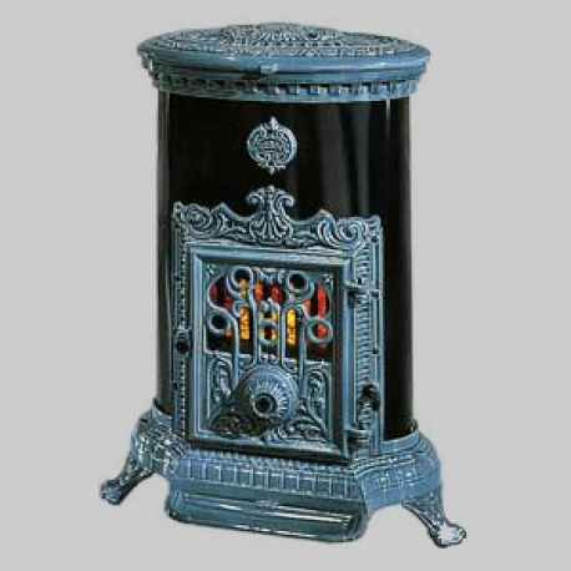 Poêle à bois LE PETIT GODIN 3726 Finition acier émaillé + fonte émaillée ou peinte anthracite de GODIN